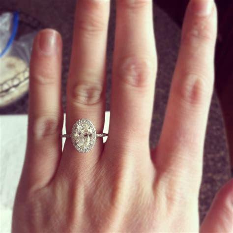 Big Engagement Rings On Finger 22   Rings   Pinterest