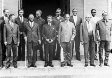 Assitentes al encuentro de Accra en 1958.