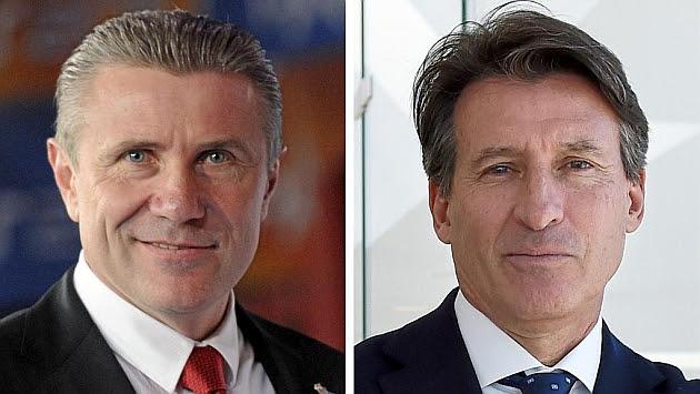 Bubka (izquierda) y Coe (derecha), optan a presidir la IAAF