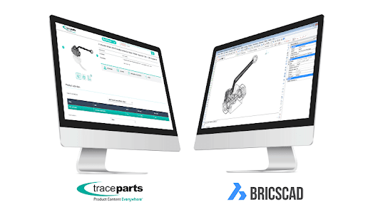 The BricsCAD® format available on the TraceParts CAD-content platform