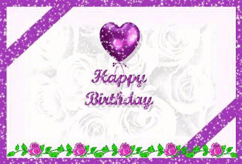 Happy Birthday With Purple  Free Happy Birthday eCards