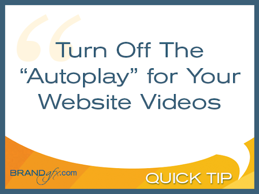 Turn Off Video Autoplay | BRANDgfx Design and Marketing