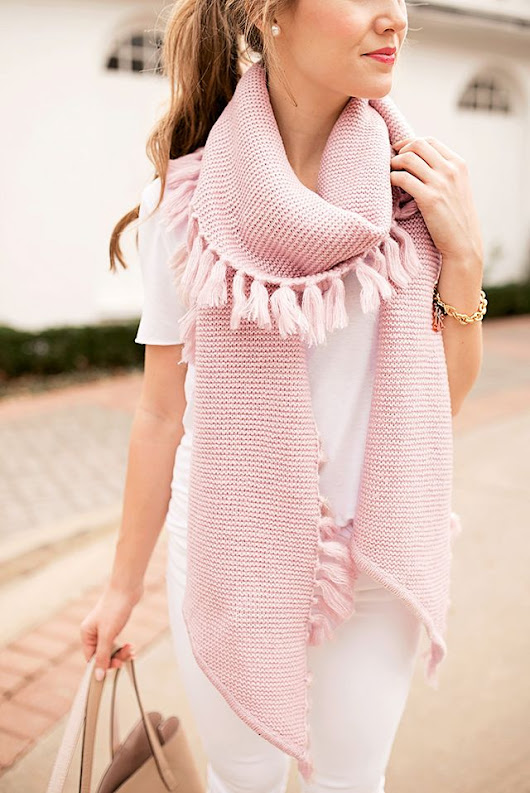 Style Files - Pink Fringe Scarf