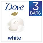 White Beauty Bar, Light Scent, 3.17 oz, 3/Pack