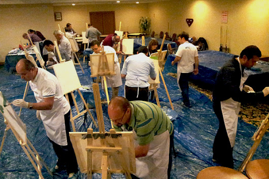 Big Picture painting team building activity Paint Teams painting class | HTC Events