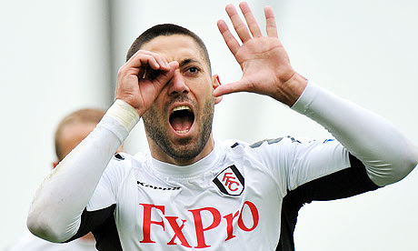 Clint Dempsey celebrates after scoring