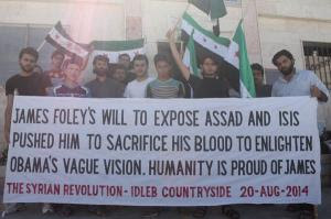 Liberated Kafranbel, abandoned to Assad's bombs, pays tribute to James Foley