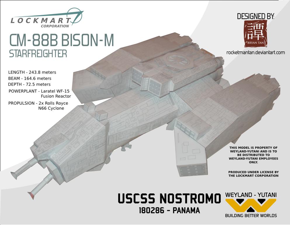 USCSS Nostromo Papercraft