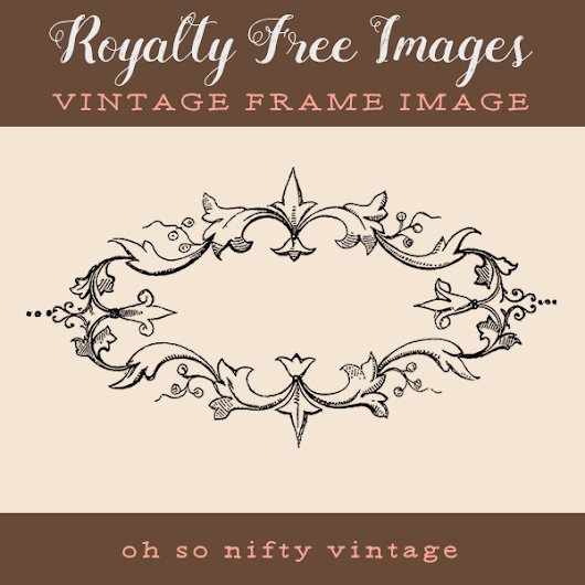 Royalty Free Images | Vintage Frame | Oh So Nifty Vintage Graphics