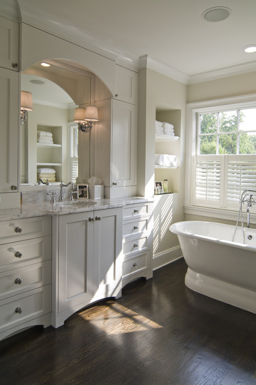 What kind of wood floors can you install in a bathroom?