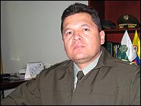 Álvaro Caro, director de la Policía Antinarcóticos.