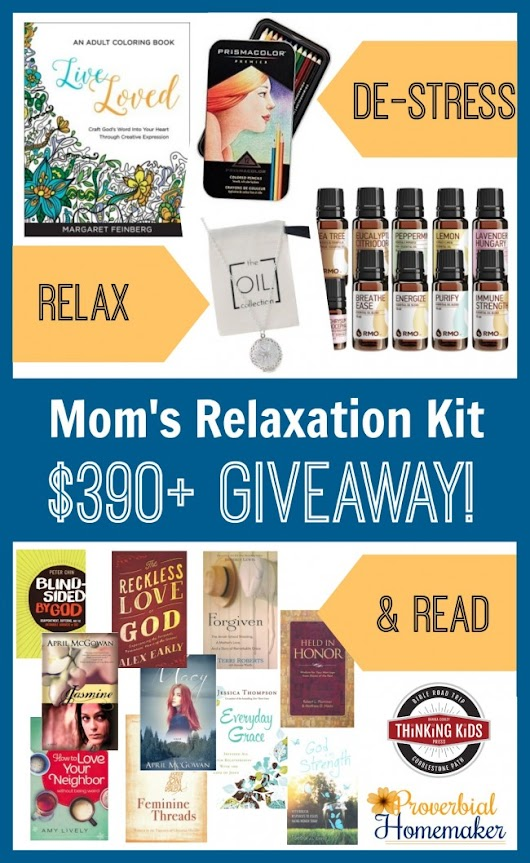 Mom's Relaxation Kit Christmas Giveaway ($390+ in Prizes!) - Proverbial Homemaker