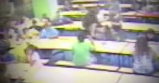 Shocking moment teacher punches autistic boy in school cafeteria