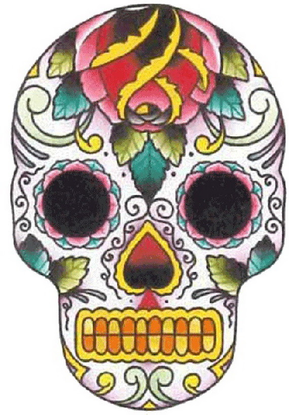 Sugar Skull Tattoos For Halloween Day Of The Dead Family Holiday