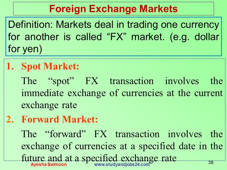 Foreign exchange market - Wikipedia