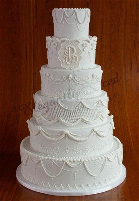 60 best images about Wedding Cakes w/Monogram on Pinterest
