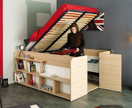 Parisot Space Up Bed + Hidden Storage