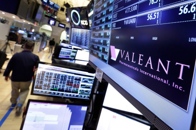 La pharmaceutique Valeant a brièvement été la plus grande société... (Photo archives Associated Press)