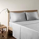 Sleep Philosophy Rayon from Bamboo Sheet Set, Grey, Queen
