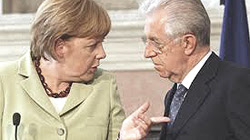 Angela Merkel e Mario Monti