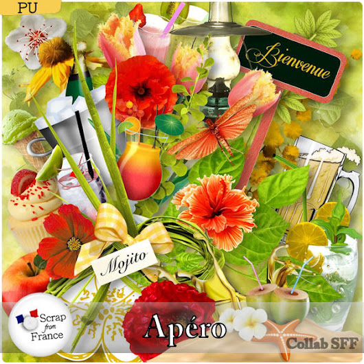"Scrap From France's newsletter : New store collab ""Apéro"" + FREEBIE"