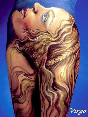 Virgo Body Art Optical Illusions Image