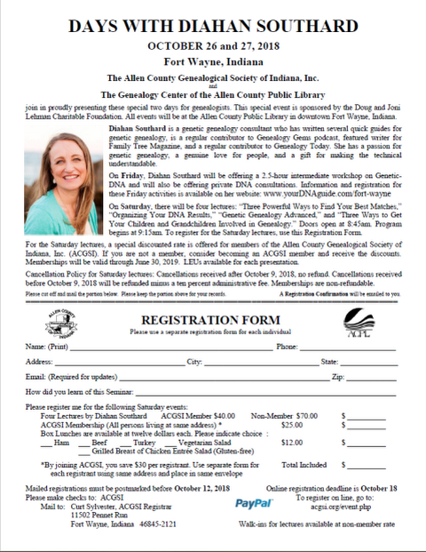 """Non-population Census Schedules"" October 10, 2018 presented by Randi Richardson – Free Educational Genealogy Program"