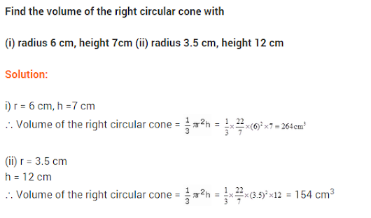 Class 9 Maths NCERT Solutions Chapter 13 Surface Areas and Volumes Ex 13.7