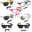 "Amazon.com: Sun-Staches ""The Original Mustache Sunglasses"" Catch eyes. Turn heads. BE THE PARTY. (24 Piece Set): Clothing"
