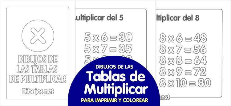 Dibujos De Las Tablas De Multiplicar Para Imprimir Y Colorear