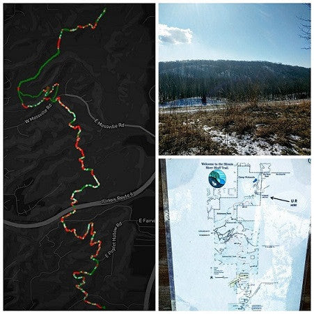 Snowbound Hiking Conquest - IL River Bluff Trail – AthleteDataViz