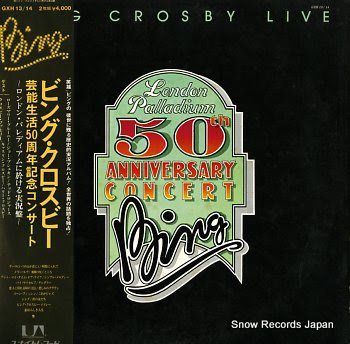 CROSBY, BING london palladium 50th anniversary concert