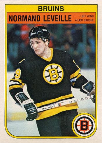 Leveille Bruins card, Leveille Bruins card