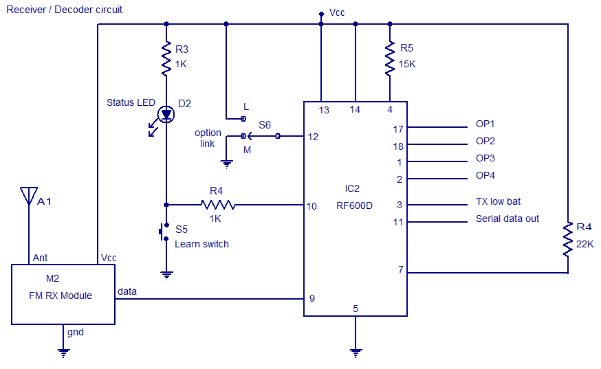 FM remote decoder circuit