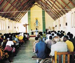 Santa messa presso la parrocchia di Chibumagwa in Tanzania