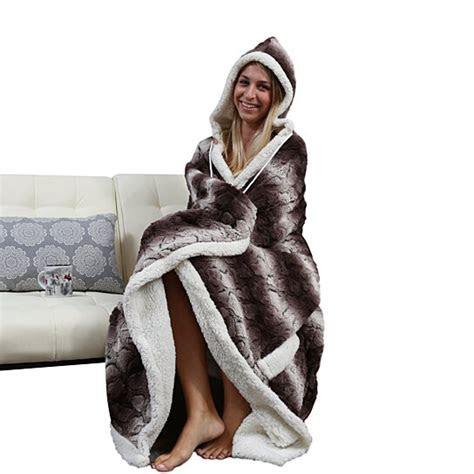 buy sherpa lined animal print hooded robe multiple colors