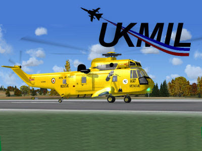 FSX UKMIL Westland Seaking SP2 Helicopter (16771)
