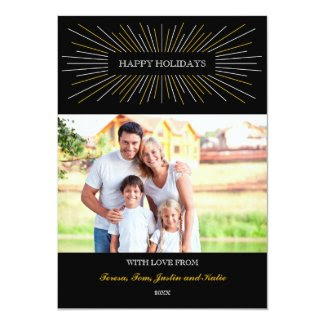 Starburst Happy Holidays Photo Card
