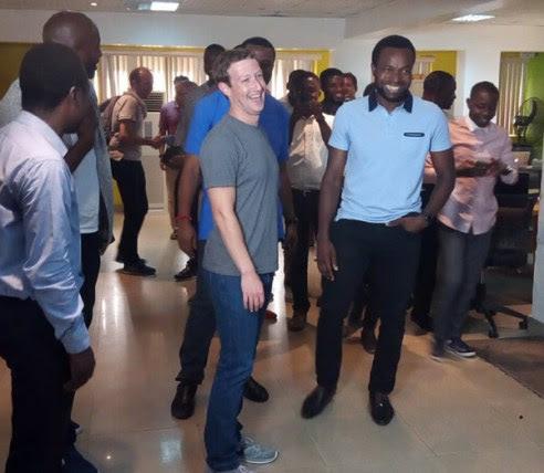 Image result for Facebook founder, Mark Zuckerberg in Nigeria