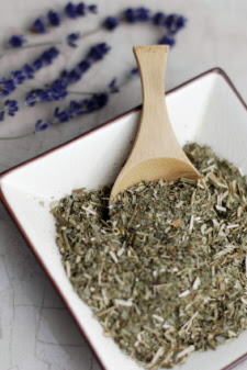 Mixing Lavender And Herbs