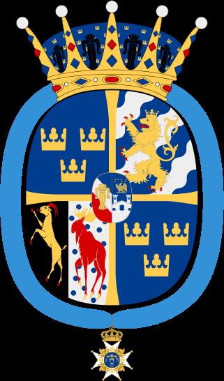 Archivo: Prinsessan Madeleine vapen med Serafimerkors.svg