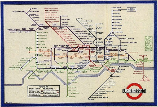 Sublime design: the London Underground map