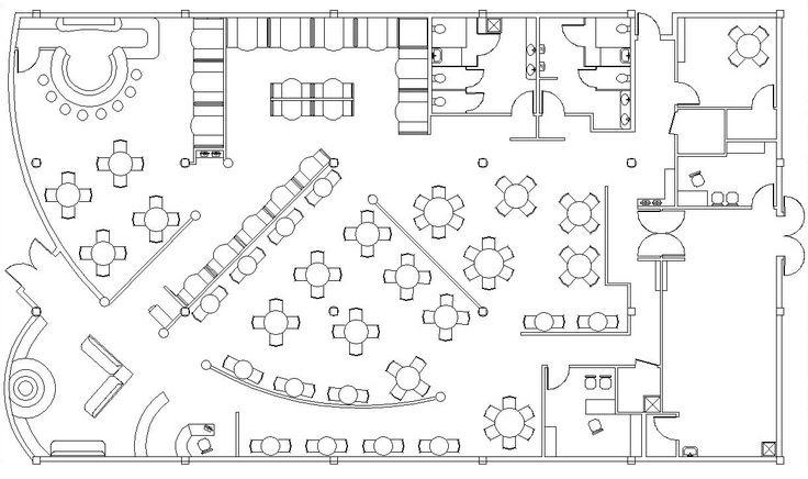 restaurant dining room blueprint | Interior | Pinterest