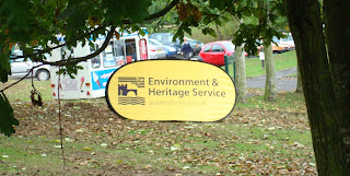Sign for the Environment Heritage Services EHS NI
