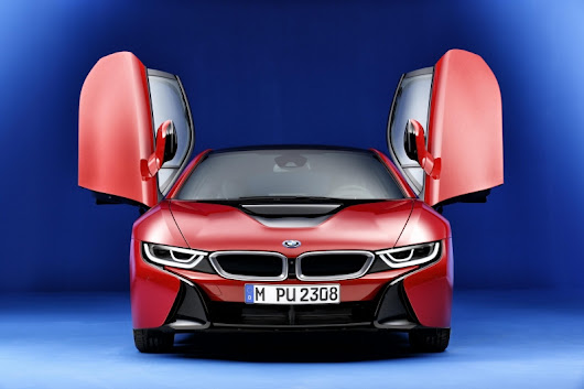 The celebratory model BMW i8 Protonic Red Edition available from next September