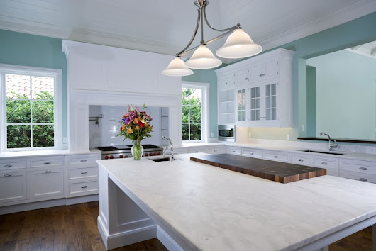 Best countertops design ideas for white cabinets