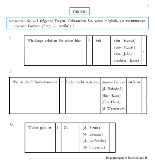 Präpositionen + Dativ (2) : seit, von, zu (Arbeitsblatt) http://aws ...