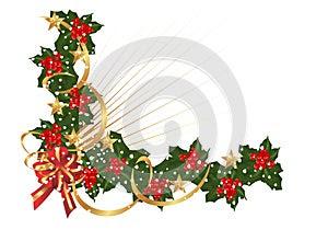 Christmas border, cdr vector