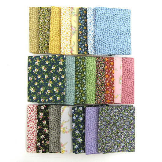 Little House on the Prairie Flowers Fabric Bundle
