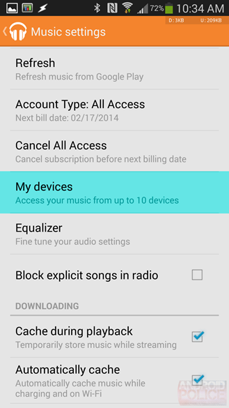 Google Play Music 5.4 Update Finally Brings 'My Devices' To Android, Adds Offline Radio Caching And 'Play Next,' Fixes Duplicate Chromecasts Bug, And More [APK Download]
